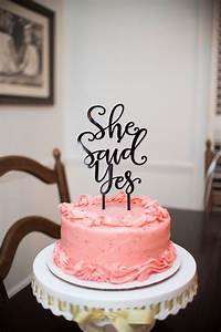 15 Cake Topper Ideas for Your Engagement Party Cake -Beau ...  Cake
