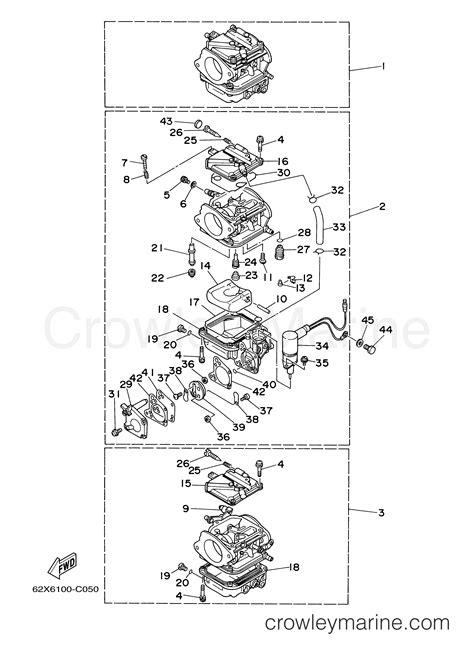 Two Cycle Carburetor Diagram by Carburetor 2004 Yamaha Outboard 40hp 40tlrc Crowley Marine