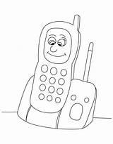 Coloring Phone Cell Phones Printable Popular Getcolorings sketch template
