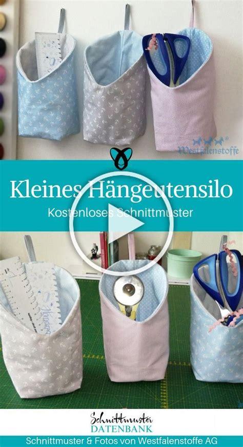 Diy mode schnittmuster video anleitungen. Kleines Hängeutensilo Nähutensilo Utensilo zum Aufhängen für Nähsachen Nähplatz … | Nähen ...