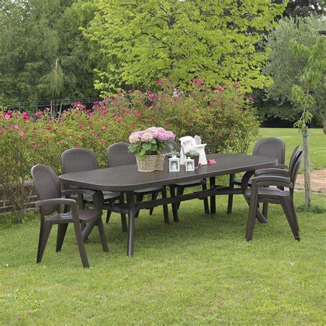 tavolo da giardino allungabile tavolo rettangolare allungabile da giardino toscana 250
