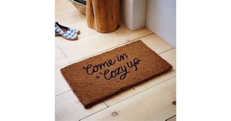 west elm doormat west elm come in and cozy up coir doormat best home