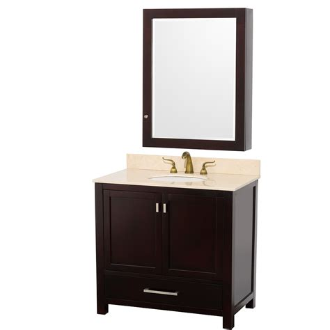 bathroom vanity mirror cabinet wyndham collection 36 inch abingdon bathroom vanity wc