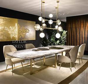 Art Deco Brass Wall Lights Marble Dining Table High End Designer Tables Taylor