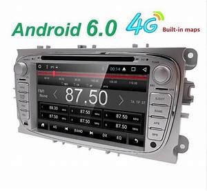 Android 6 0 Quad Core 2 Din Car Dvd Player Gps For Ford Mondeo S Max Connect Focus 2 2008 2009