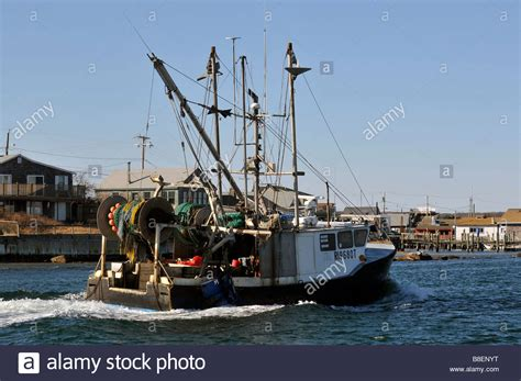 Commercial Fishing Boat Images by Commercial Fishing Boat Returning To Port In Galilee Rhode