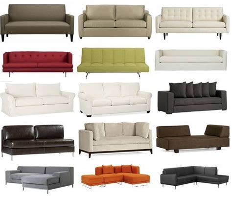 names  sofas  types  sofas couches explained