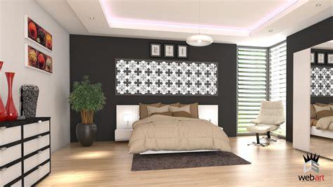 chambre parentale design 3d design intérieur chambre parentale rendu realiste vray
