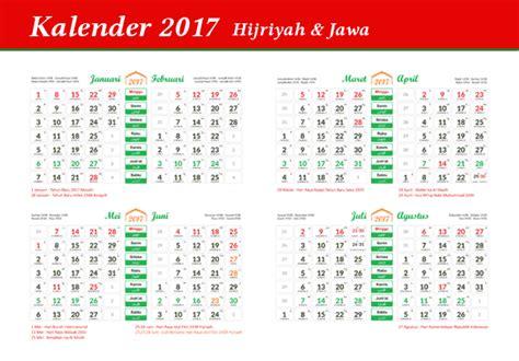 Download Kalender 2017 Hijriyah Dan Jawa Indonesia