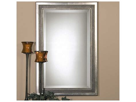 Uttermost Triple Beaded Gray Vanity Mirror