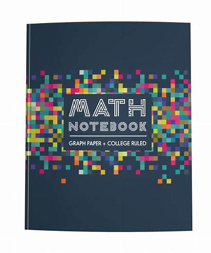 Paper Math Notebook Ruled College Graph Colorful