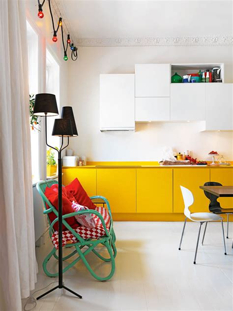 cuisine jaune et blanche déco cuisine archives mademoiselle déco déco