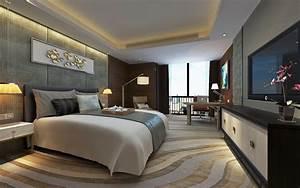 Modern, Luxury, Hotel, Room, Design, 3d