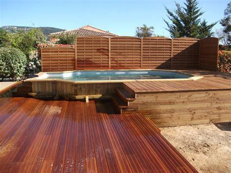 kit piscine bois semi enterree 38 best images about piscine hors sol on pool ladder islands and