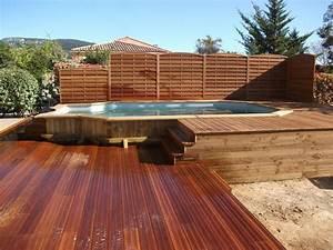 Piscine Semi Enterrée Coque : 38 best images about piscine hors sol on pinterest pool ~ Melissatoandfro.com Idées de Décoration