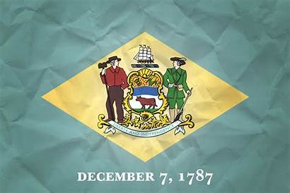 Delaware Flag Paper Flags Texture States State