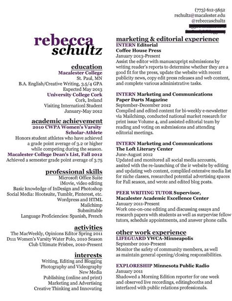 Creative Resume Writing Service by Use Of Space Fit A Lot Of Info On One Page At Work Creative