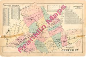 Centre County PA Township Map