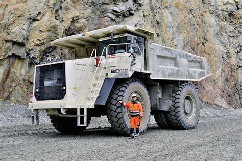 terex trucks rigid haulers working  swedish mining