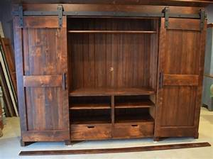 barn door entertainment cabinets view in your room With barn door tv wall cabinet