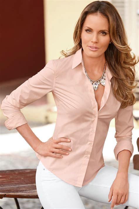 womens turn collar ol sleeve blouse