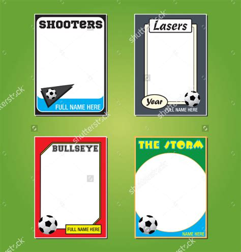 trading card template word  psd eps