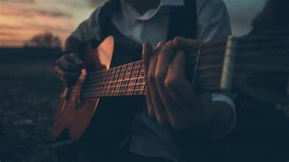 Guitar Playing Boy Outdoors 5k Wallpapers Resolution