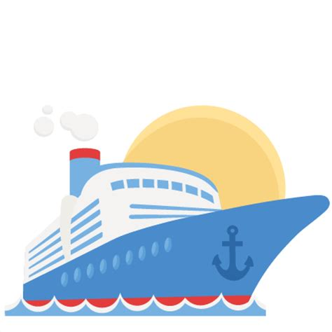Clip art cruise ship