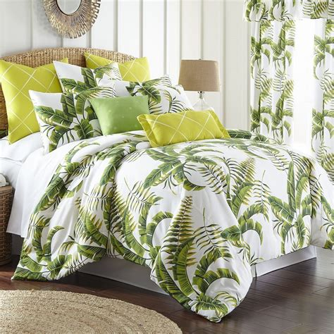 Tropic Bay Duvet Cover Set Queen By Colcha Linens Pc