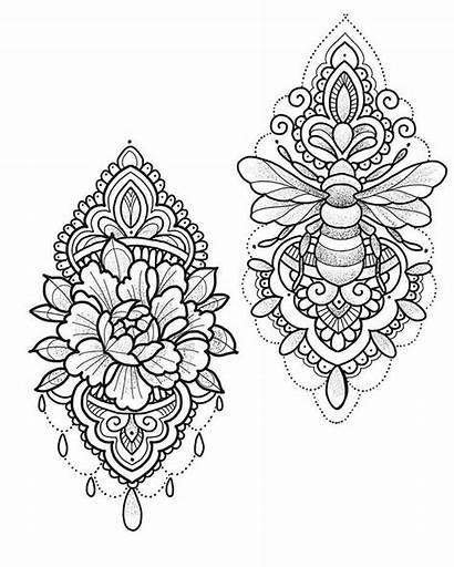 Mandala Tattoo Drawing Tattoos Dotwork Stencil Arm