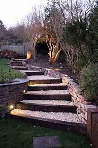 Marche Bois Escalier : escalier exterieur jardin meilleures images d ~ Premium-room.com Idées de Décoration