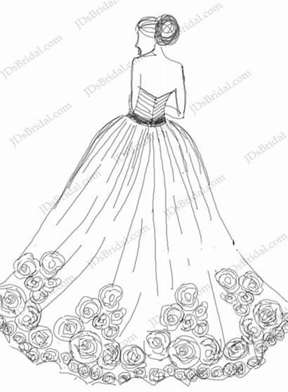 Gown Ball Tulle Rosette Strapless Bottom Dresses