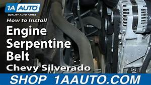 How To Install Replace Change Engine Serpentine Belt 2007