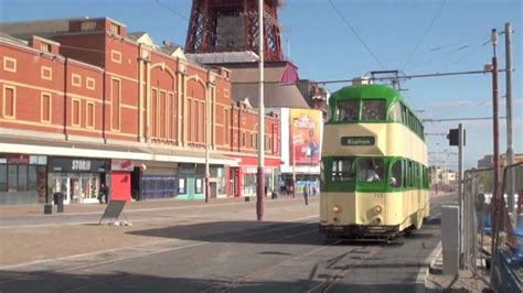 blackpool trams   promenade june  youtube
