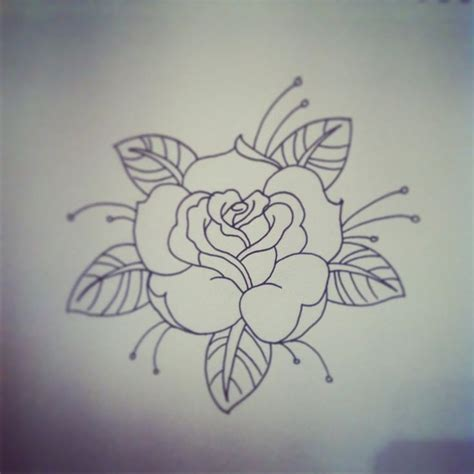 traditional rose tattoo traditional rose tattoo linework