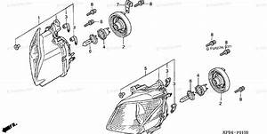 Honda Scooter 2003 Oem Parts Diagram For Headlight