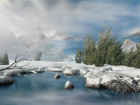 3d Winter Wallpaper by Winter Wallpapers For Pc Wallpaper Cave