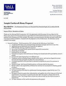 best photos of contractor proposal template free With estimate letter for construction