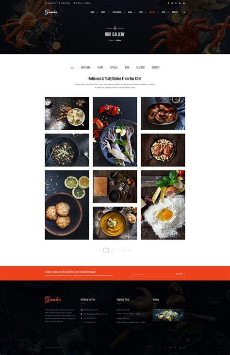 cuisine gambas gamba food restaurant psd template by gambathemes