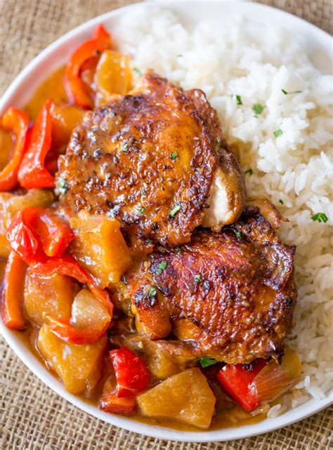 pineapple chicken thighs slow cooker