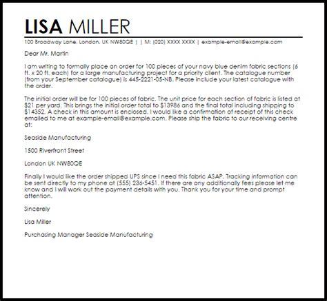 order letter  letter samples templates