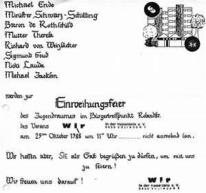 Einladung Zur Einweihung : vereinsgeschichte ~ Lizthompson.info Haus und Dekorationen