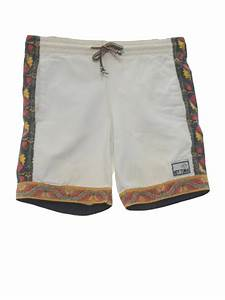 Retro Eighties Shorts: 80s -Hot Tuna- Mens khaki tan