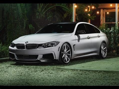 bmw  series gran coupe  vossen wheels youtube