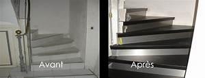 Renover Un Escalier En Bois : r nover son escalier avec du bois noir r novation d ~ Premium-room.com Idées de Décoration
