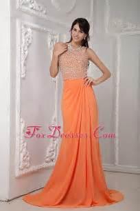 designer gown orange colored prom dresses bright orange prom dresses