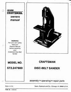 Craftsman 572 247600 Disc