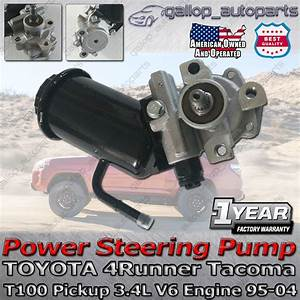 Toyota Power Steering Pump 4runner Tacoma T100 Pickup 3 4l V6 Engine 1995