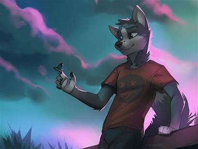 Furry Wolf Furries Background Drawing Lupo Anthro