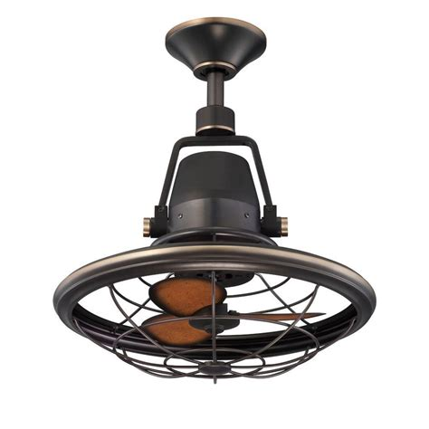 Small Oscillating Outdoor Ceiling Fan by Hton Bay Bentley 18 Quot Outdoor Tarnished Bronze